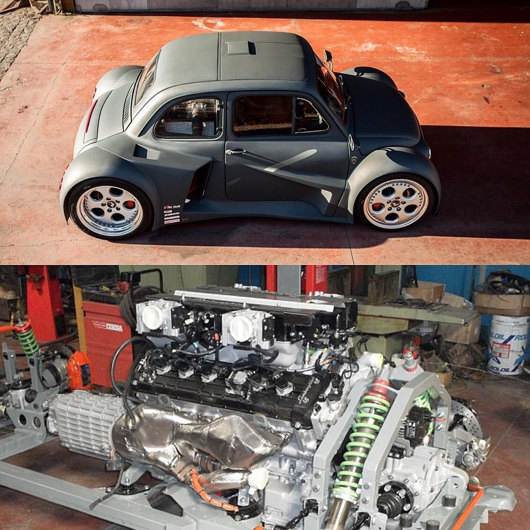 6 2l V12 Swapped Fiat 500 580 Awd Hp Weight Fiat 500