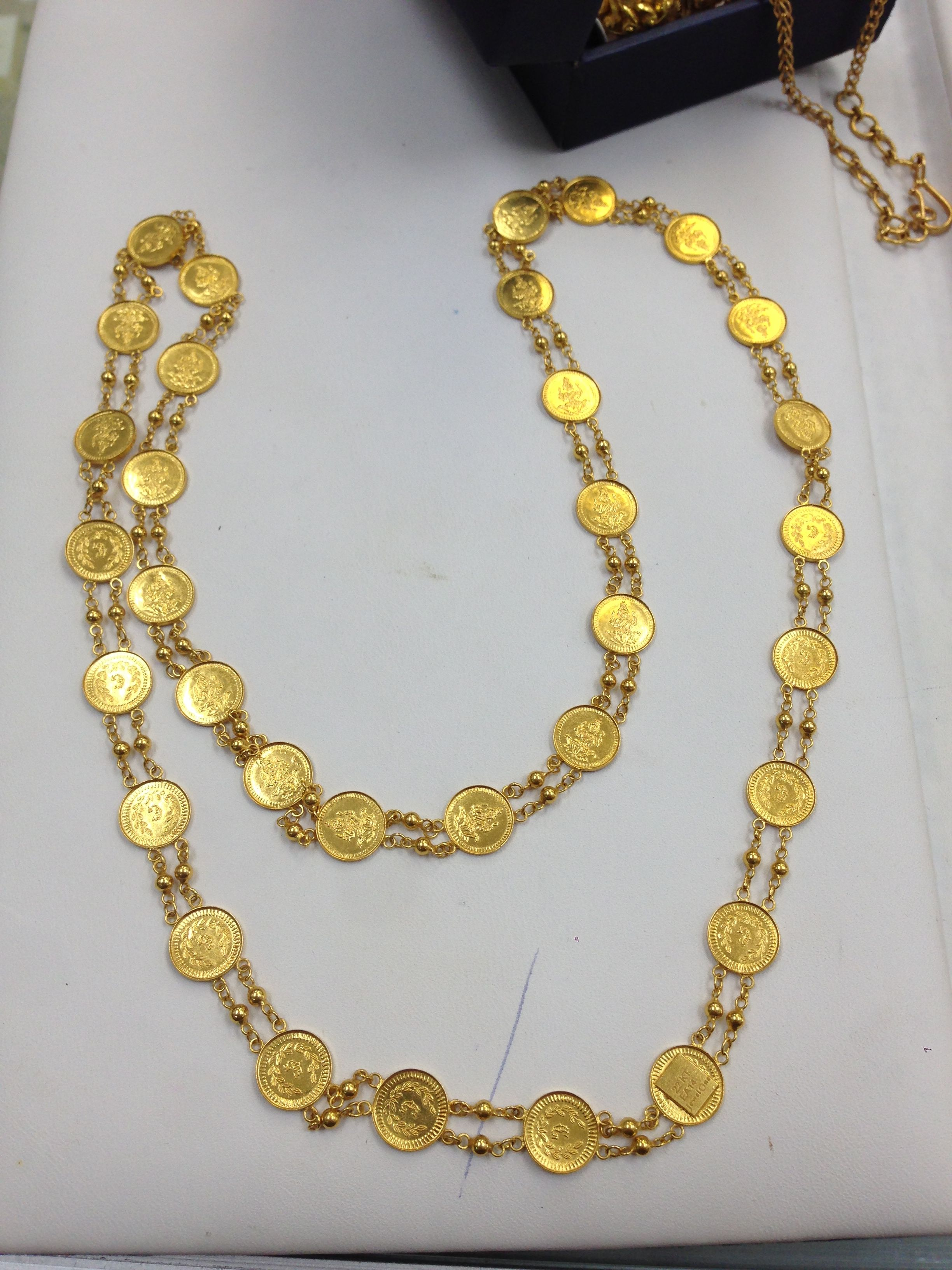1c12c938b95 Laxmi coin mala ( chain) in 22kt gold | 22kt jewelry in 2019 | Gold ...