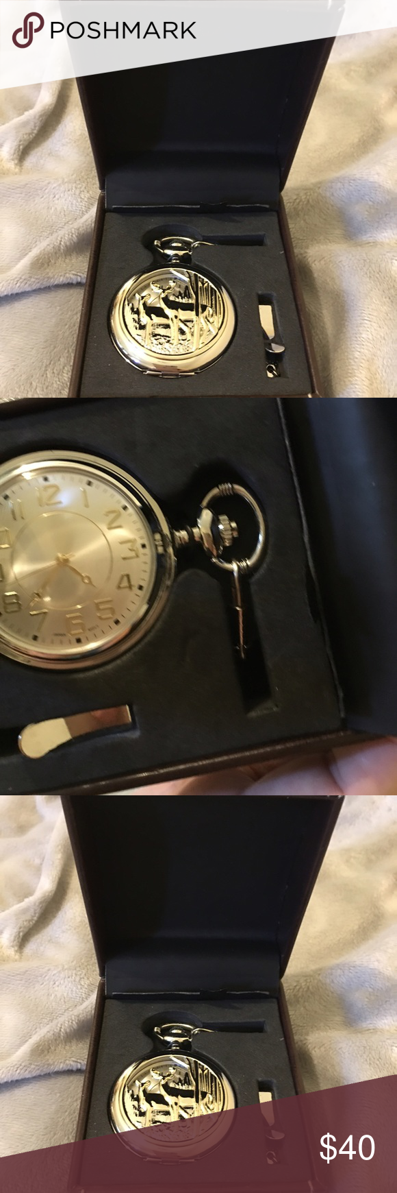 New mans pocket watch Brand new men's pocket watch the picture is etched  the paperwork is under the watch it would make a very nice for Father's Day gift Accessories Watches
