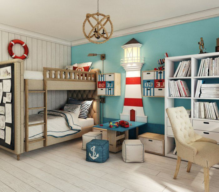 1001 ideen f r kinderzimmer junge einrichtungsideen anker. Black Bedroom Furniture Sets. Home Design Ideas
