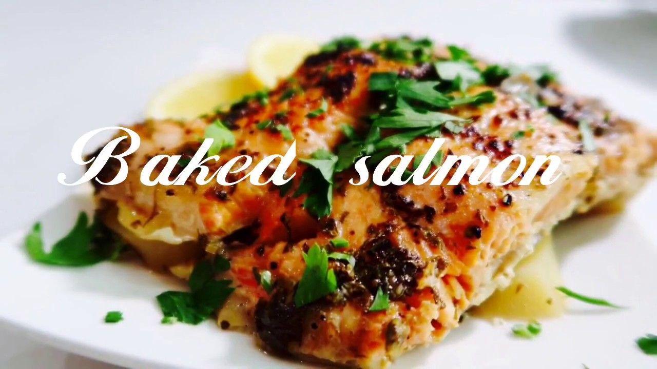 Baked Salmon Recipe With Potato طريقة عمل صينية سمك السلمون بال Baked Salmon Quick Dishes Food