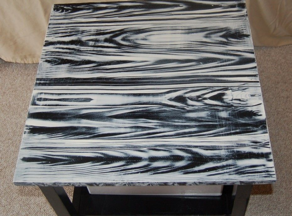 faux painting on wood furniture  Zebra Motive Spray Painting Wood