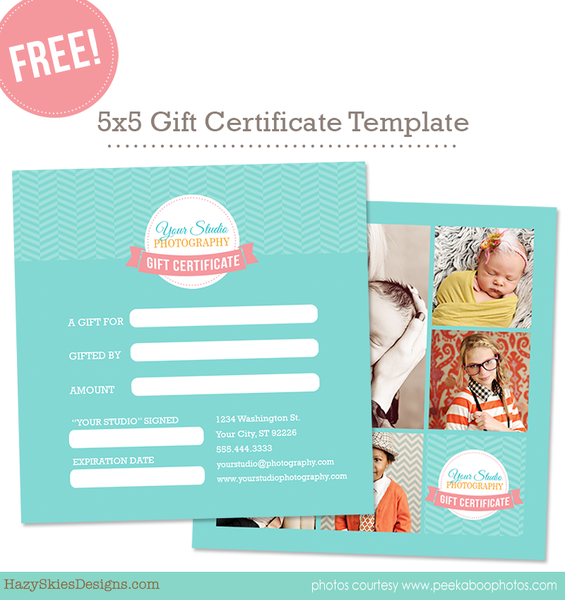 Free Gift Certificate Template Photoshop Templates For
