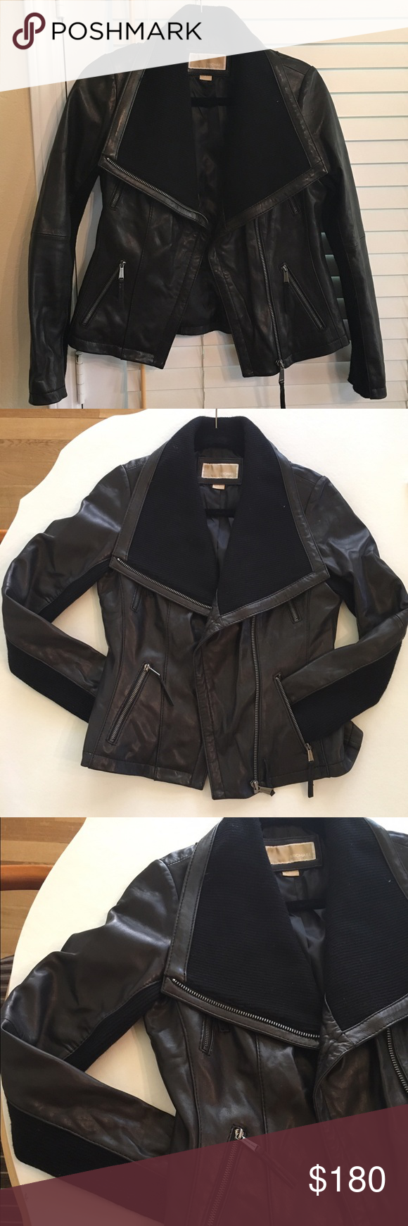 Michael Kors leather jacket Michael Kors leather jacket. Excellent condition (worn twice) Michael Kors Jackets & Coats