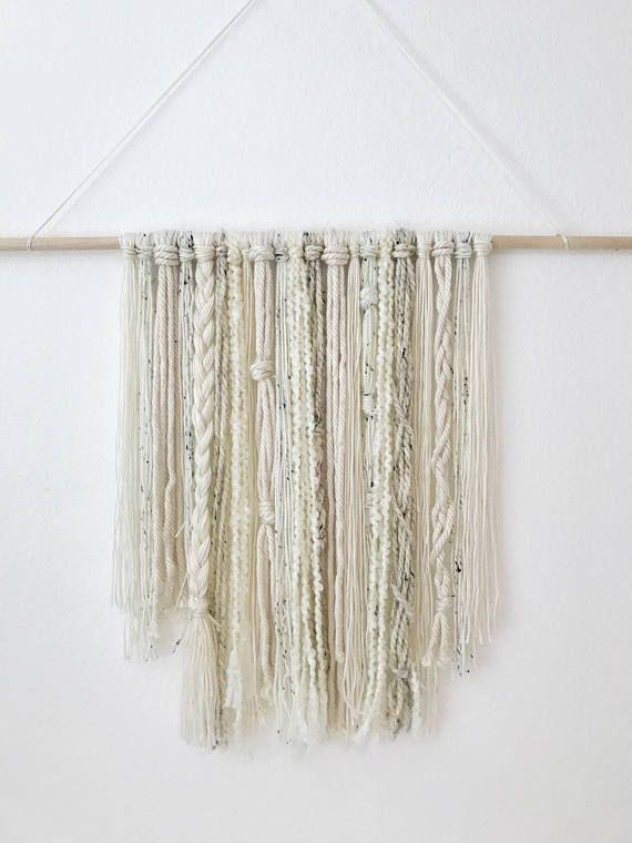 Wall Hanging Yarn Art / Bohemian Wall Art Tapestry / Boho Wall Hang Decor /  Woven