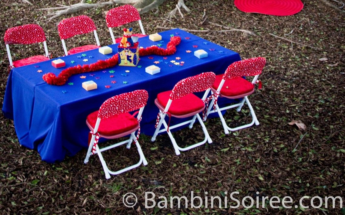 045 Kiddie Table with Chair Cushions and Caps