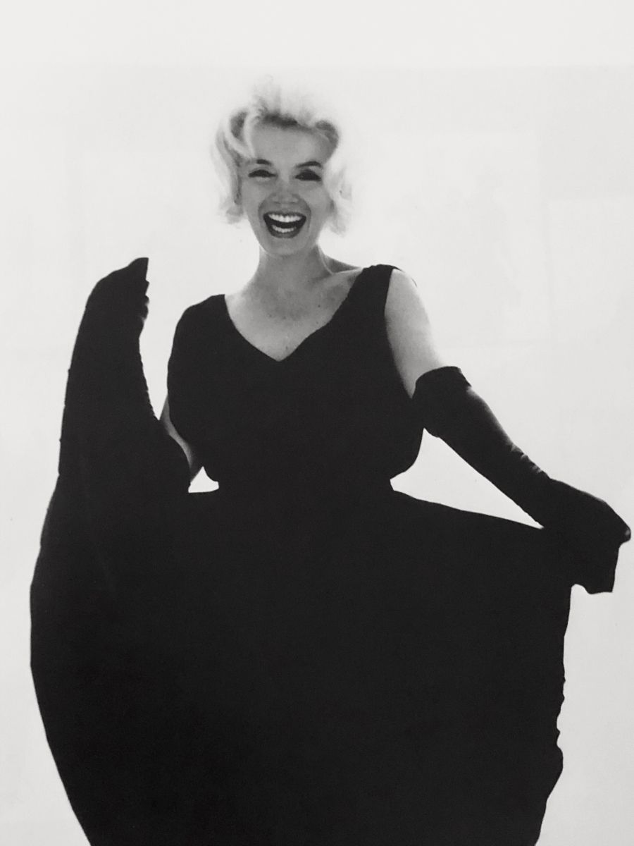 Marilyn Monroe Black Dress Pearls July 10th 1962 Black Flare Dress Black Dress Fashion Portrait [ 1200 x 900 Pixel ]