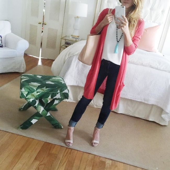 SxSW and Dallas March Showers | Coral cardigan, Coral and Clothes