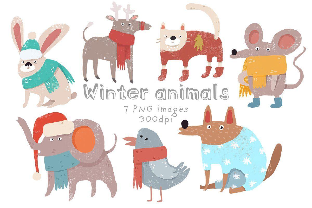 Entire Shop Clipart Bundle Winter Animals Animal Clipart Free Clip Art