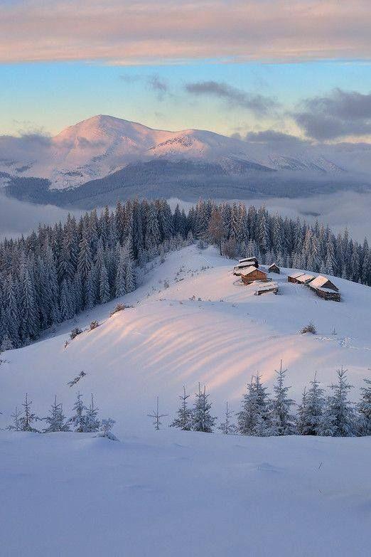 Carpathians Ukraine Looks Like Winter In My Home Town Seasons