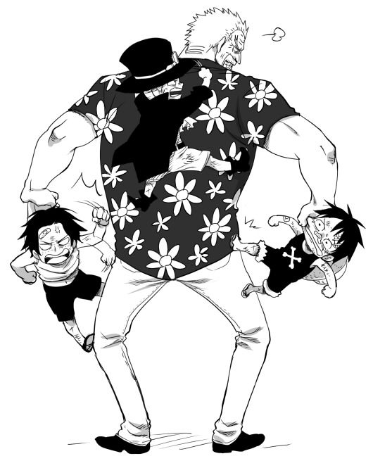 ASL brothers with Garp  | One Piece |°⌣°| | One piece manga, Ace