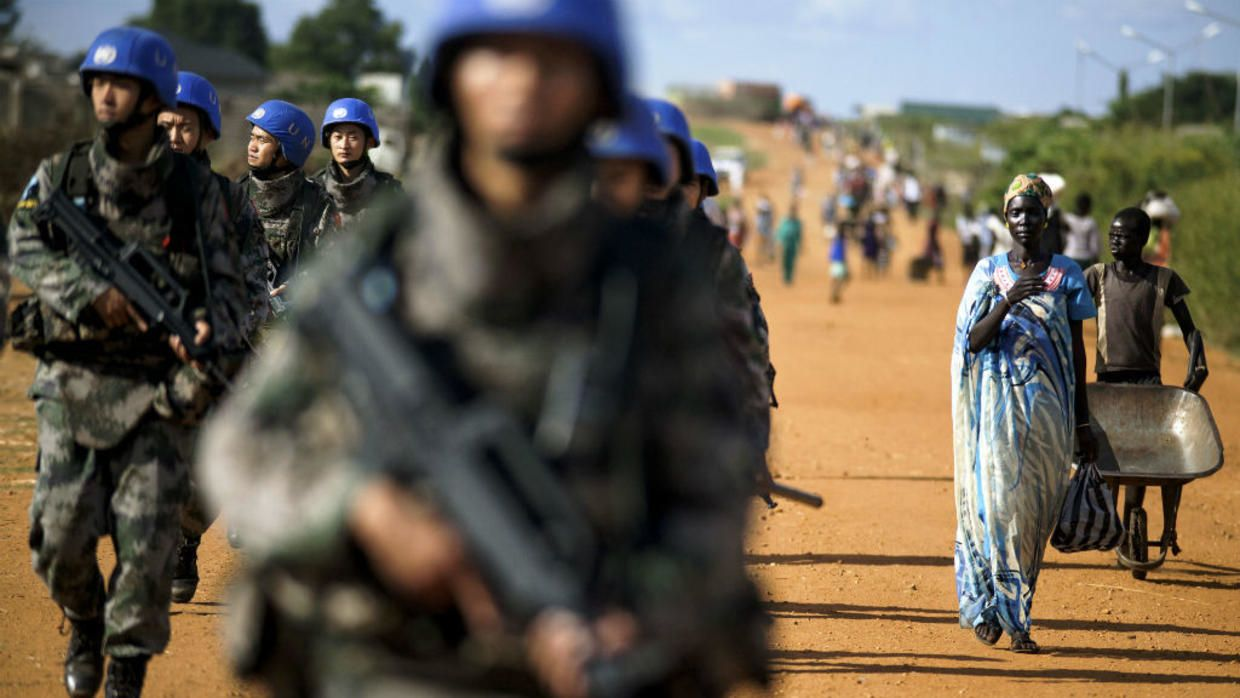 UN peacekeepers cowered in their bases rather than risk