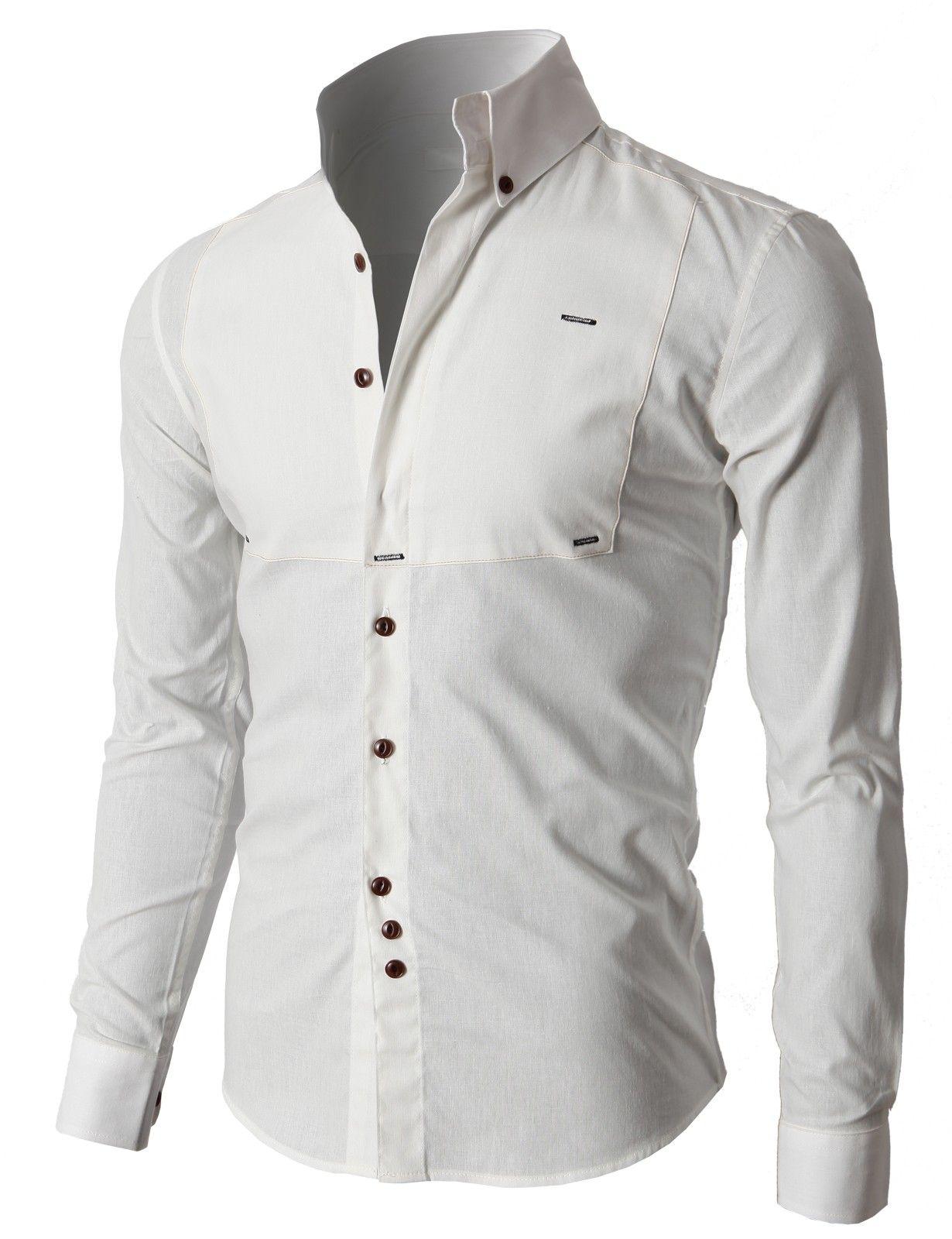 2661c61ff50 Doublju Premium Slim Fit Designed Button-down Shirts (KMTSTL0218)  doublju