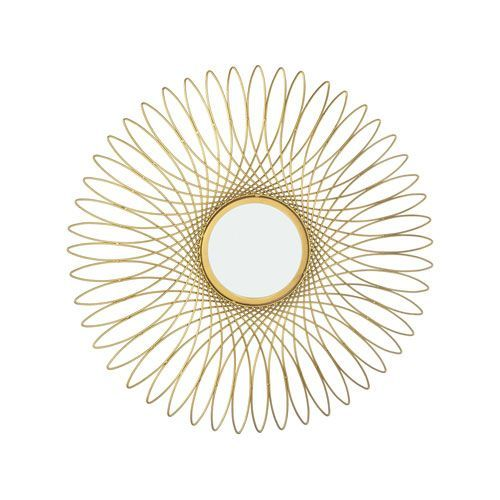 Guilloche Gold 27 Inch Round Mirror Dimond Home Wall Mirrors