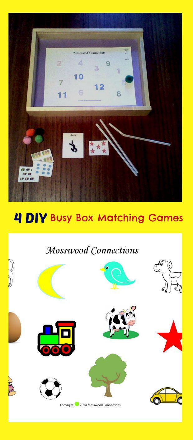 4 DIY Busy Box Matching Games   Creative activities for ...