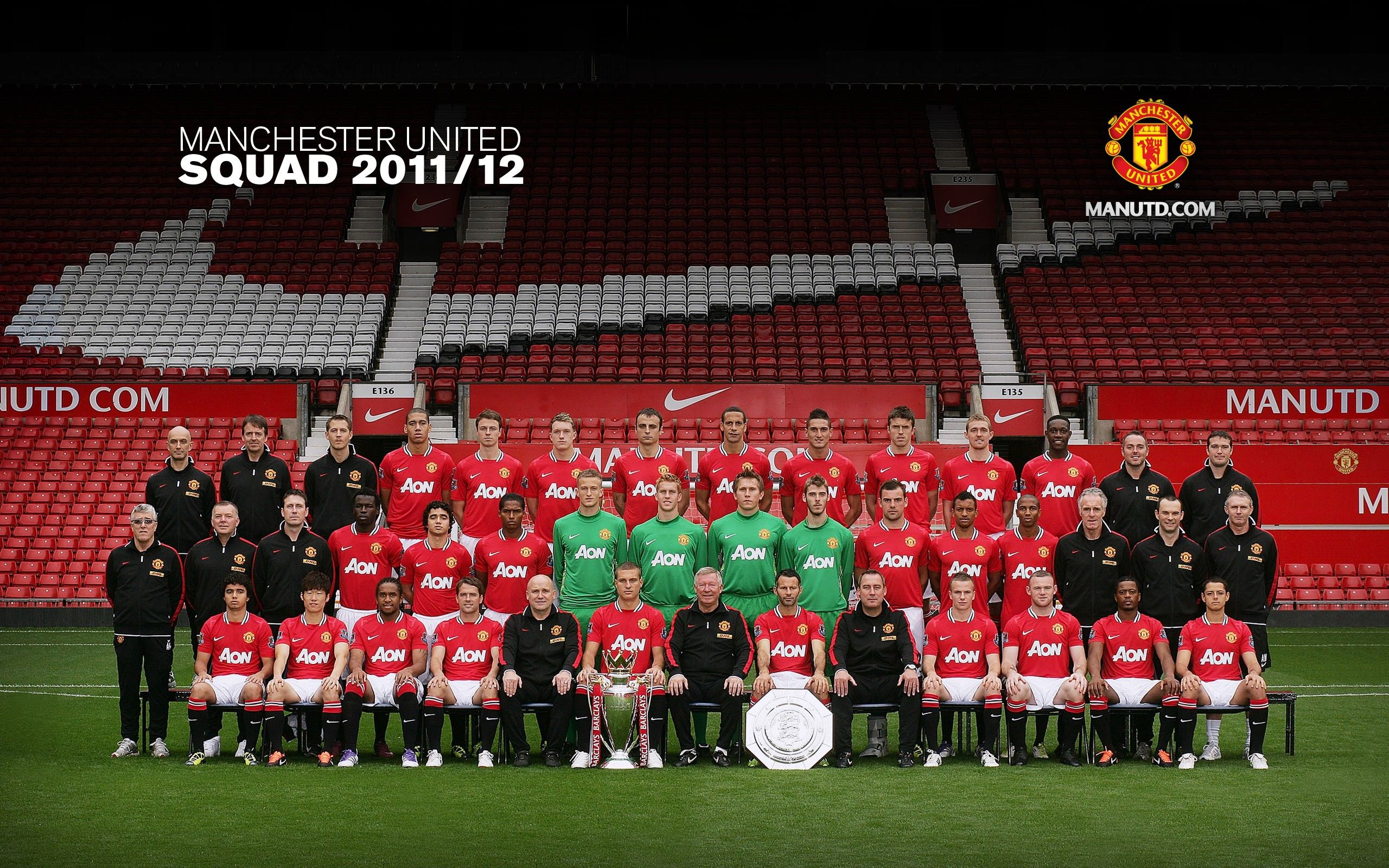 Manchester United Squad 2011 12 Manchester United Wallpaper Manchester United The Unit