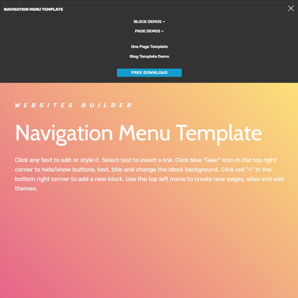 Free Html Bootstrap Menu Template With Drop Down Menu