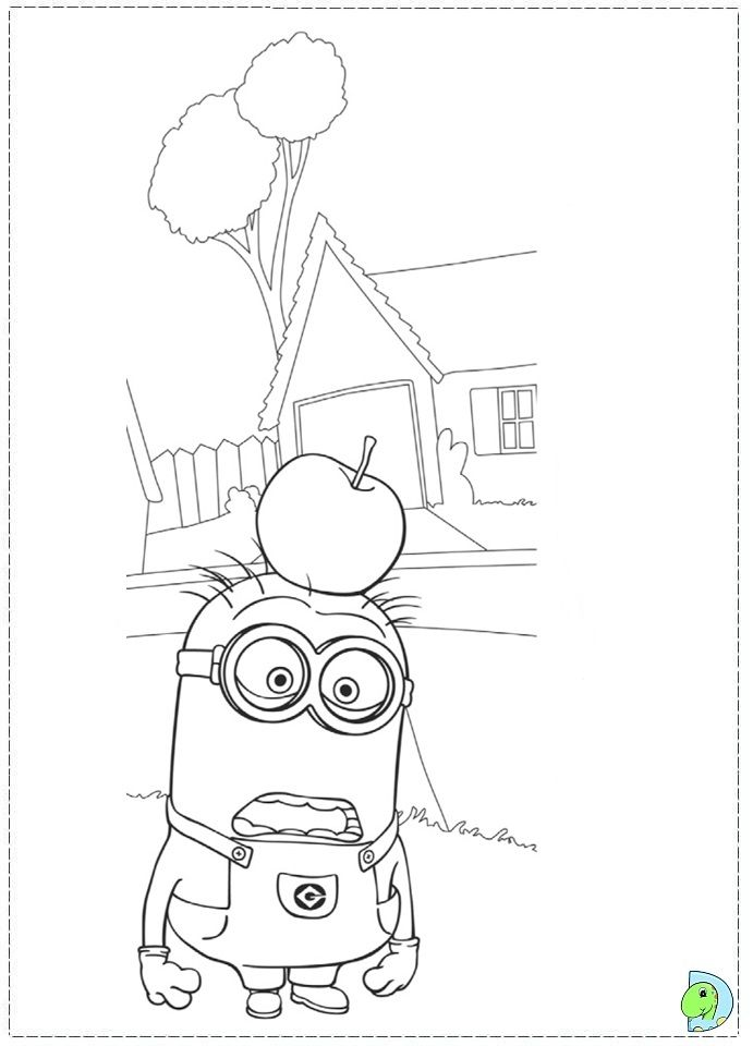 Free HD Despicable Me coloring pages for kids | Stuff to Buy ...