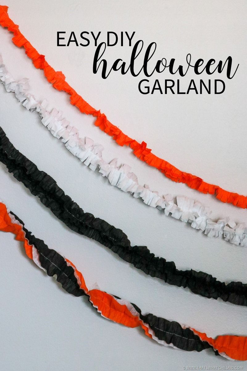 Easy DIY Halloween Garland | Halloween Craft Ideas