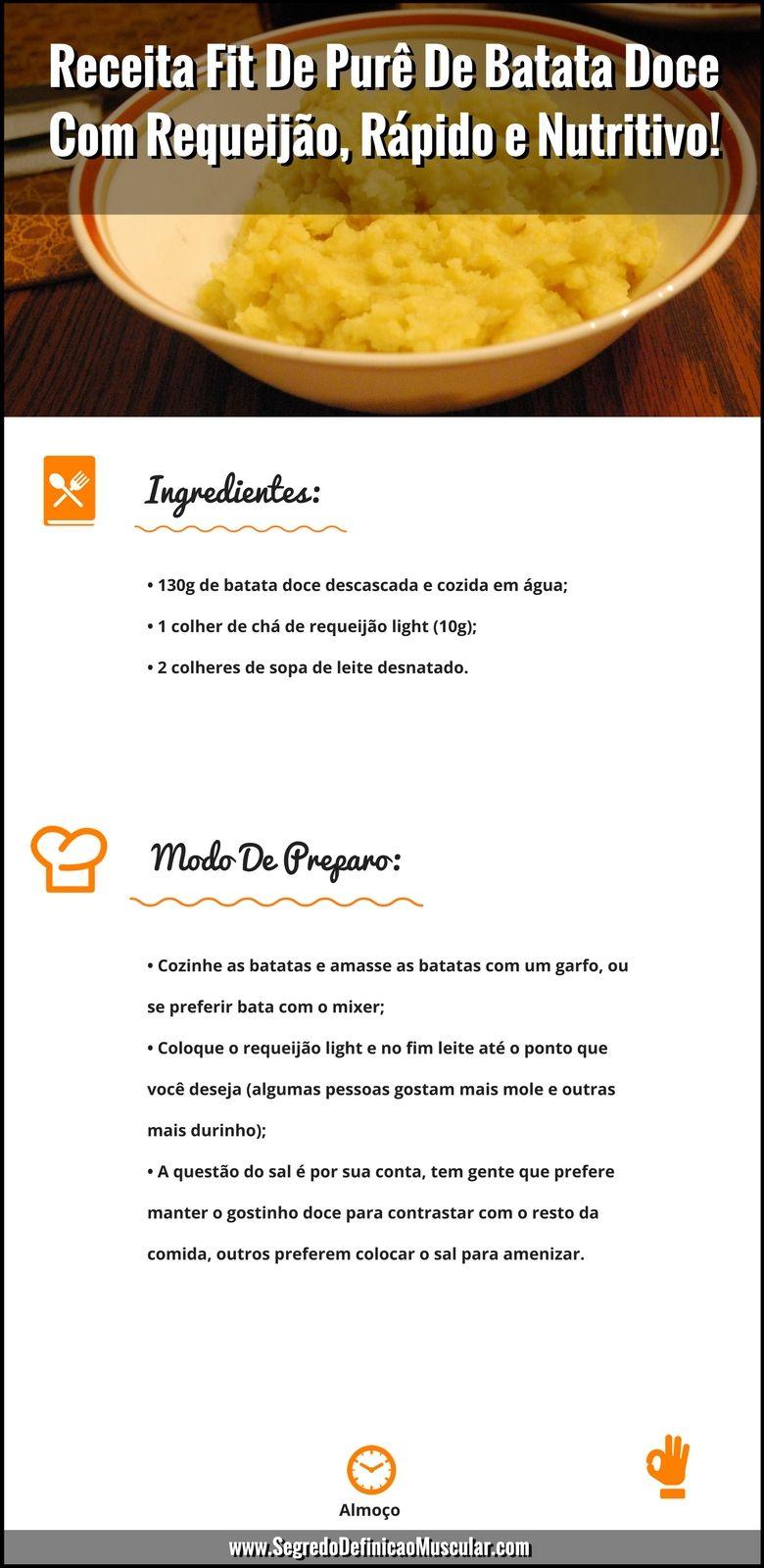 Receita Fit De Purê De Batata Doce Com Requeijão   ➡ https://segredodefinicaomuscular.com/receita-fit-de-pure-de-batata-doce-com-requeijao-rapido-e-nutritivo/  Se gostar da receita compartilhe com seus amigos :)  #receitasfit #EstiloDeVidaFitness
