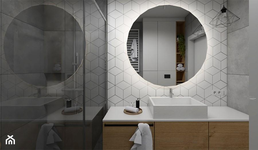 Lazienka Z Okraglym Lustrem Szukaj W Google Bathroom Mirror Round Mirror Bathroom Home