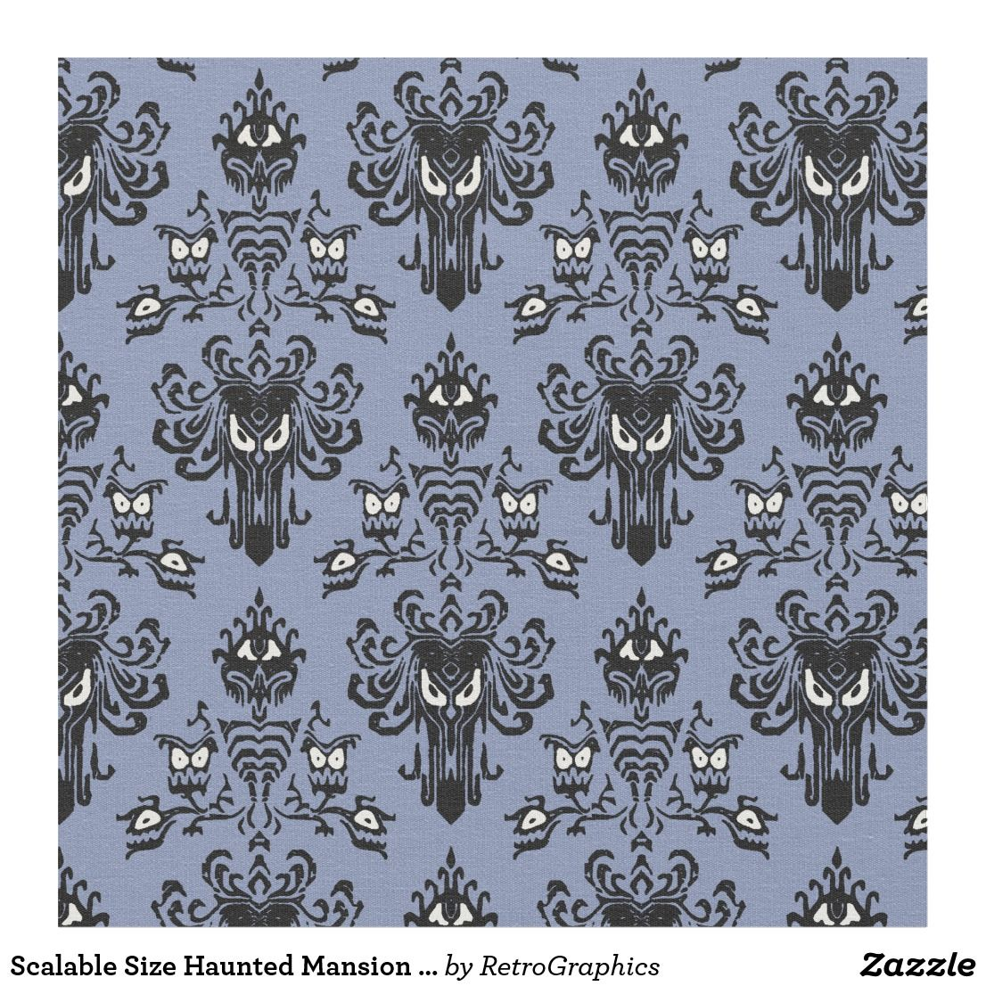 Scalable Size Haunted Mansion Fabric Haunted mansion
