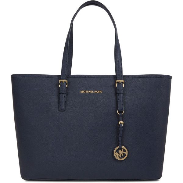Michael Kors Jet Set Saffiano Leather Tote found on Polyvore
