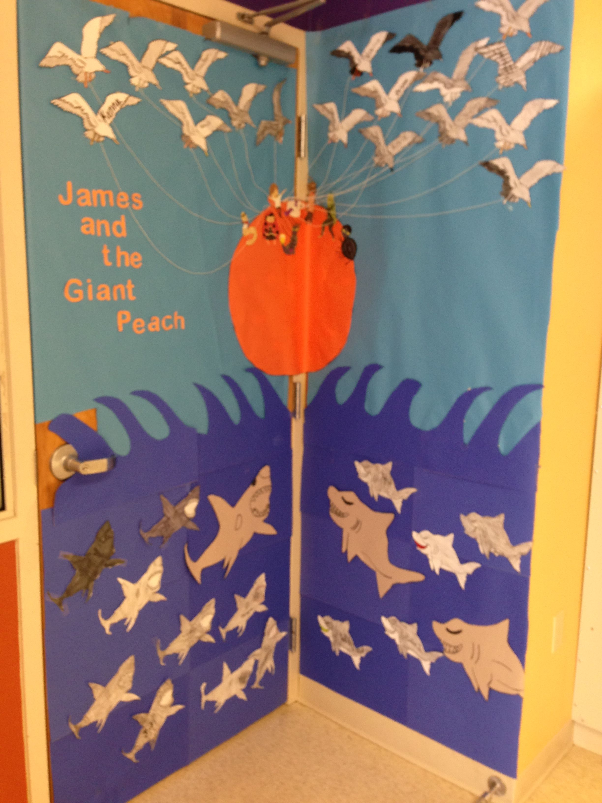 James And The Giant Peach Door Decoration