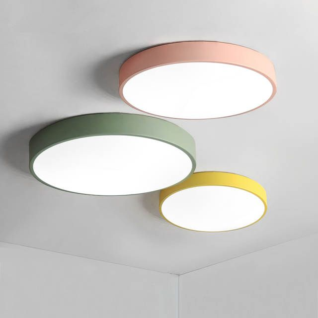 Online Shop Macaron Ultra Thin Modern Led Ceiling Lights Pink Yellow Green Body Ceiling Lamp In 2020 Low Ceiling Lighting Led Ceiling Lights Ceiling Lights Living Room