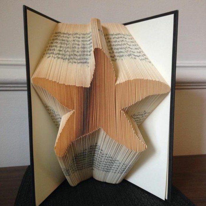 1001 id es originales de pliage de livre des formes faciles livre origami etoilee et origami. Black Bedroom Furniture Sets. Home Design Ideas