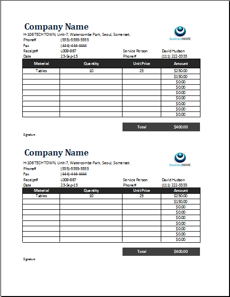 Purchase Receipt Template Download At Httpwordexceltemplates
