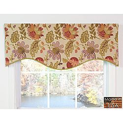 Set Includes M Shaped Lined Valance Pattern Traditional
