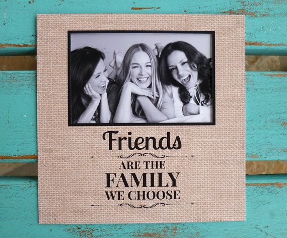 Friend Gift Photo Frame Friends Are Family Personalized Matte Friendship Word Art