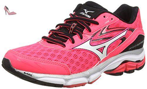 Mizuno Wave Inspire 12, Chaussures de Running Compétition Femme - Rose (Diva Pink/White/Black), 38.5 EU