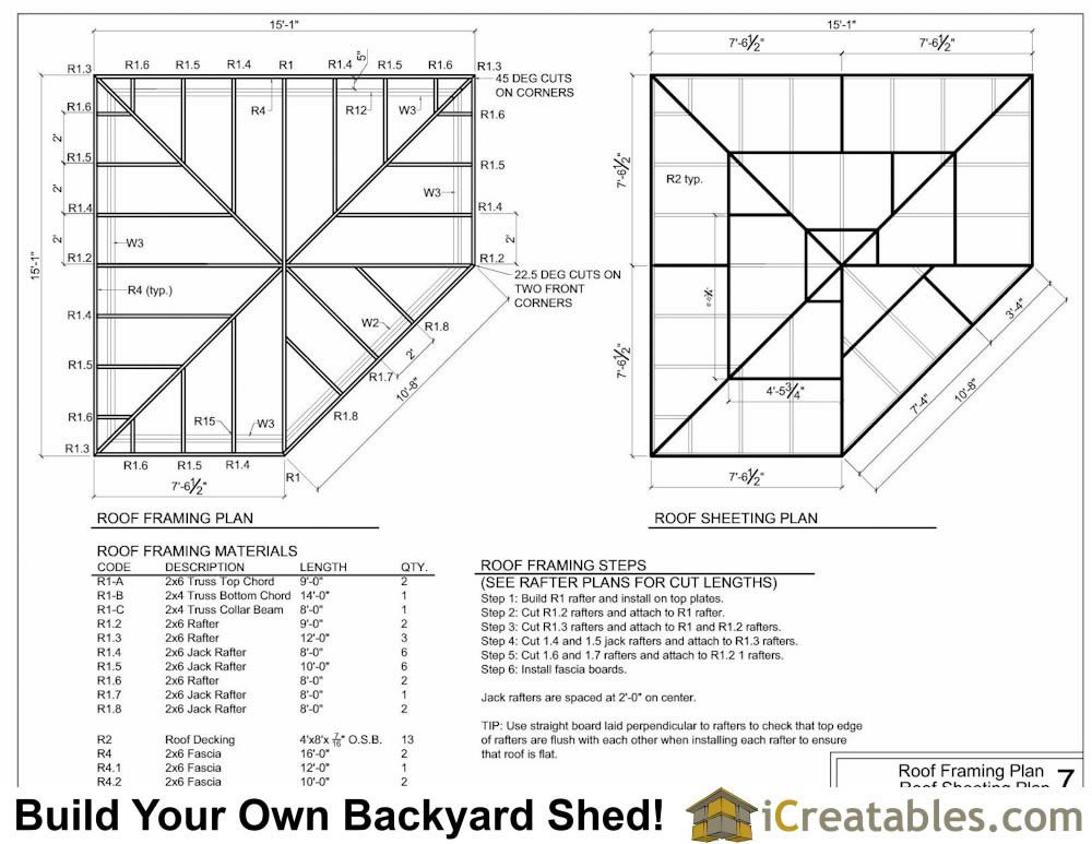 5 Sided Corner Shed Roof Framing Plans Corner Sheds Shed Roof Free Shed Plans
