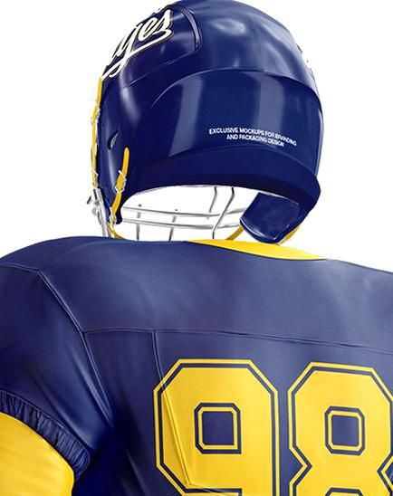 Download American Football Mockup - Half Side View Present your ...