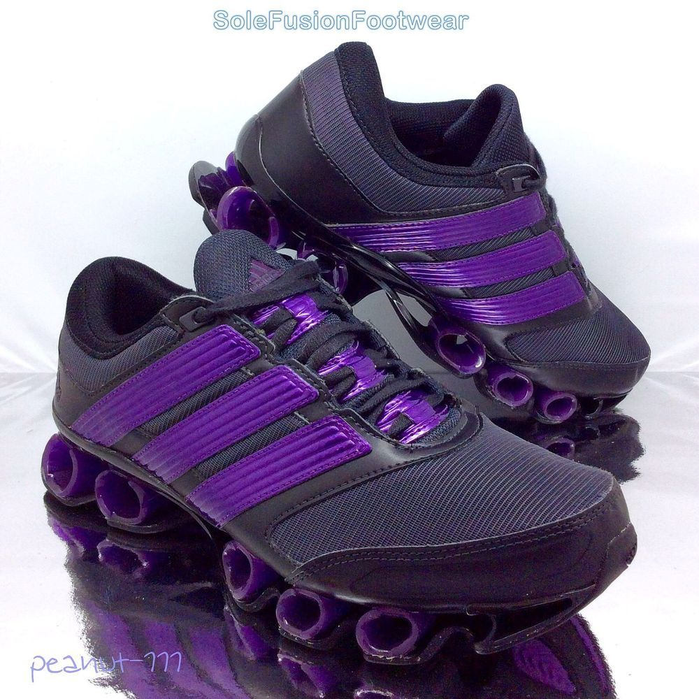adidas Mens Titan Bounce Trainers Black/Purple sz 7.5 Running Sneakers US 8  41.3
