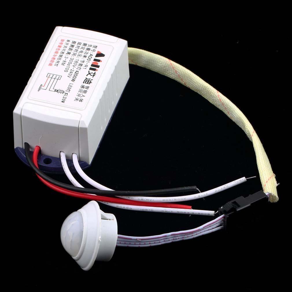 Ir 적외선 모듈 바디 센서 지능형 Motion 감지 스위치 높은 품질 200 와트 220 볼트 바디 센서 스위치 화이트 Motion Sensing Light Accessories Sensor