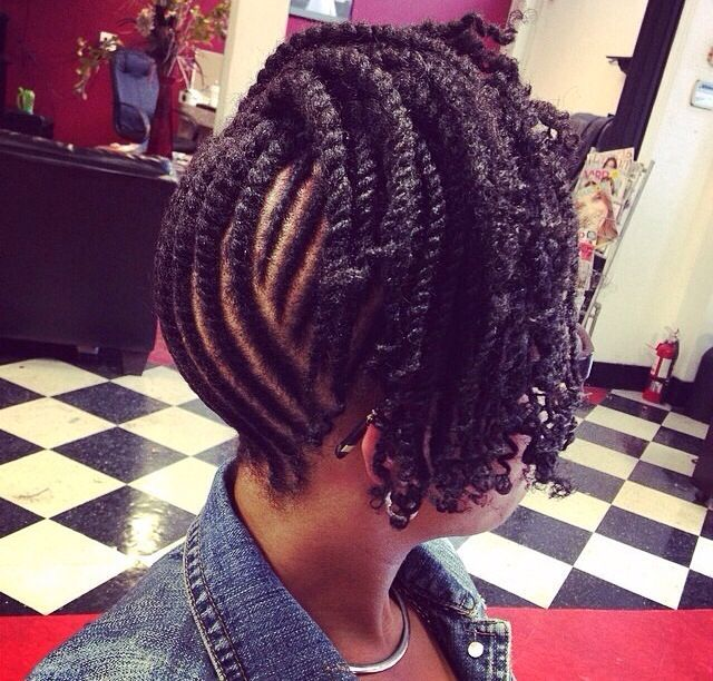 Two Strand Up Do Braided Hairstyles Natural Hair Styles