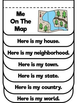 Me On The Map Map Skills Activities Map Skills Kindergarten Social Studies Social Studies Maps
