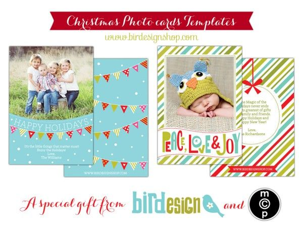 Download These Free Exclusive Holiday Card Templates Made By Bird