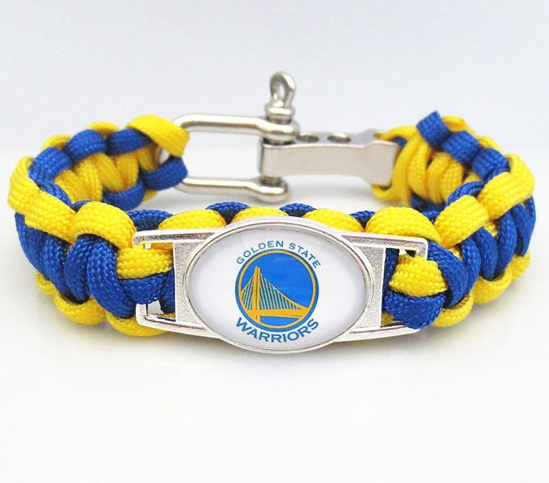 Nba Paracord Bracelet Golden State Warriors Team Sport Fan Wristband Basketball Bracelets
