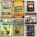 """Vintage Metal Sign """"Ice Cold.., Coffee Menu, Route 66, etc"""" Pub Wall Decor ➤ USD 6.99. ➤ https://goo.gl/PM3neV     Get 20% off with Promo code BARZZ020 for Bar Tools, Apparel, Games etc.. www.shopbarzz.net"""