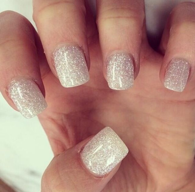 Elegant Silver Nails For Prom: Simple Yet Elegant Love, Love, Love!
