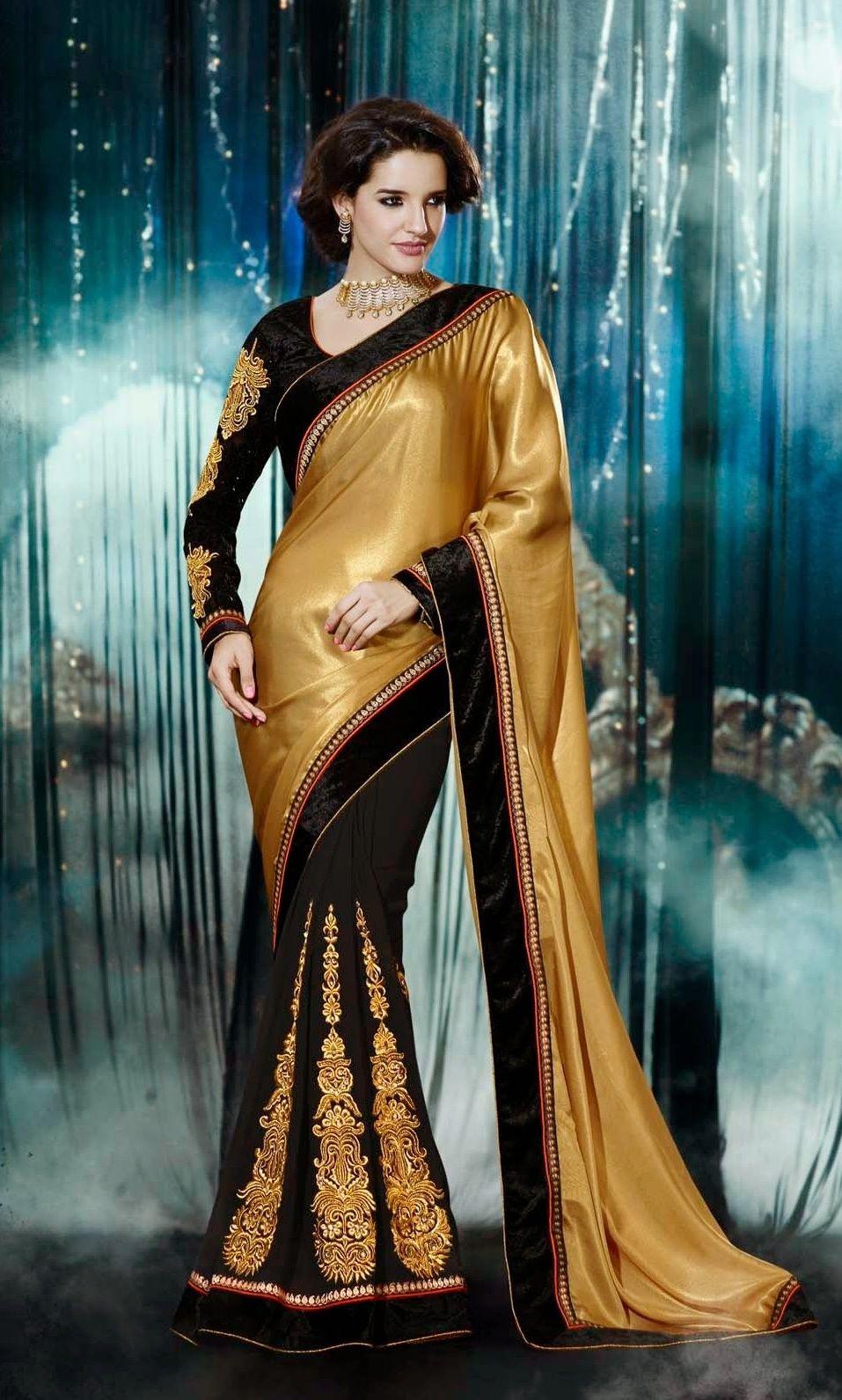 Richa Golden Designer #Saree You Must Try  #designersaree #saree #weddingsaree