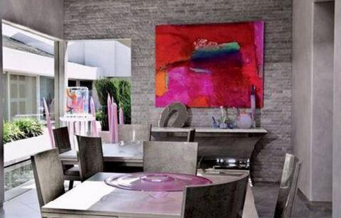 gray walls abstract art