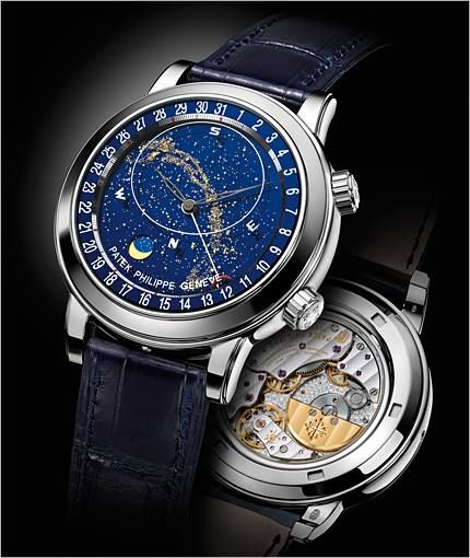 dfcadc3b0c2 Stunning Grand Complication Celestial with Date Platinum from Patek Philippe.  It features a 44mm platinum case