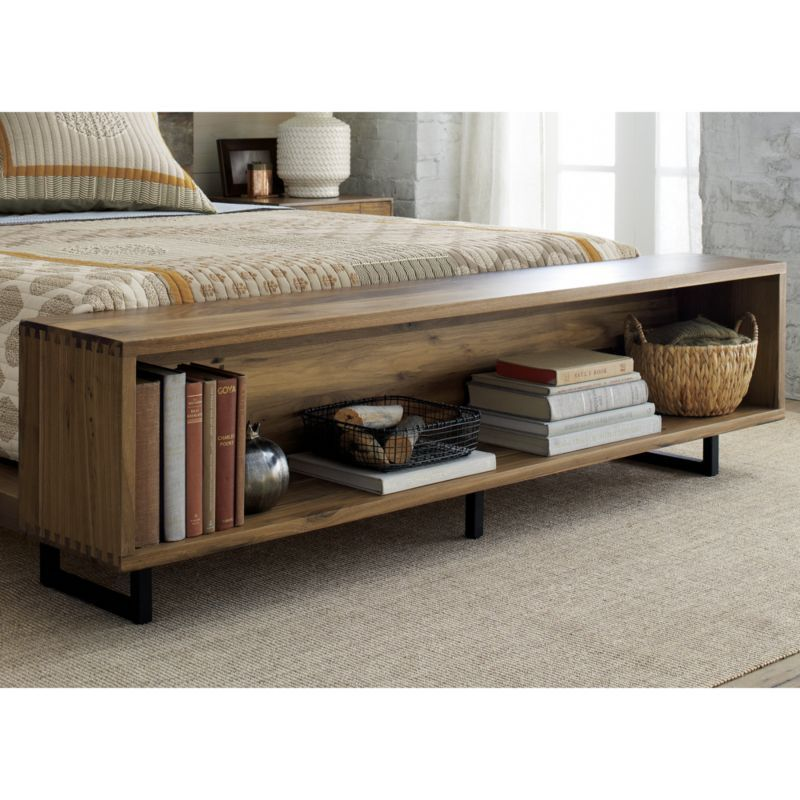 Cal King Bookcase Headboard: Atwood California King Bed With Bookcase Footboard In 2019