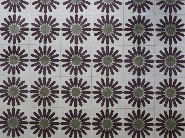 carreaux de ciment fleurs
