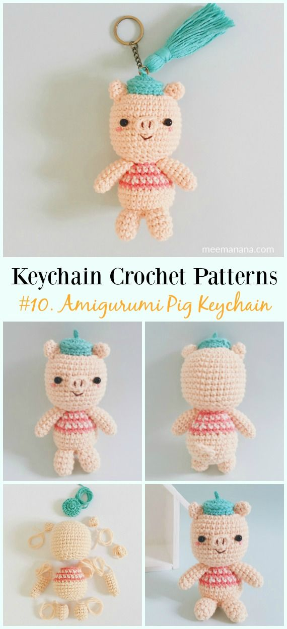 Cute and Fun Keychain Crochet Patterns Free | amigurumis | Pinterest ...